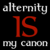 jenett: Text: alternity IS my canon (Alternity IS my canon - Gryffindor)