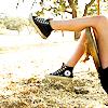 wordsleadmeon: Shot of Kristen Stewart's legs from the 2008 Twicast Vanity Fair photo shoot (KStew Playful Kick)