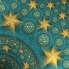 kate_nepveu: yellow and turquoise fractal of stars and planets (the stars above)