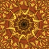 kate_nepveu: red and gold fractal sun (fiery sun)