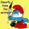 bremol: (smurfy writing)