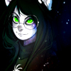 "spacewoof: art by <user name=""oo-kir-oo"" site=""deviantart.com""> (SPACE ► green eyes)"