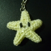 treiza: Photograph of a crocheted Invincibility Star from Mariokart. (Default)