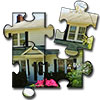 chomiji: The front of our house as a four-piece jigsaw puzzle (House - puzzle)