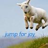 pondhopper: (jump for joy lamb)