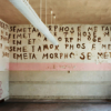 scallion: empty room with words on walls (pupil)