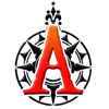 adventurotica: Adventurotica logo: red letter A on black compass rose. (Adventurotica)