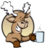 thetalkingmoose: Moose & Mug (Moose With Mug)