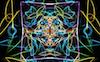 amisophe: a colorful glowy pattern made on weavesilk. (weavesilk)