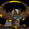 myriadbeautiful: The god Guthix. Kind of a horned Yeti? (God Guthix)
