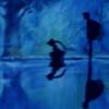 alexseanchai: Sailormoon and Endymion in silhouette with reflection (Sailormoon and Endymion silhouette)