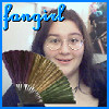 "azurelunatic: ""Fangirl"": <user name=""azurelunatic""> and a folding fan.  (fangirl, _schools4303)"