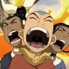 aximili: Aang, Sokka, Katara being chased by the fire nation. (Avatar TLA: Trio AAAAH!)