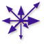 trshippy: Asymmetrical symbol of Chaos, Purple (chaos, purple)
