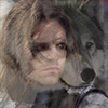 morgynleri: the winter soldier overlaid with a wolf (fenrir winter)