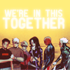"schneefink: Young Avengers team (CC era), words ""we are in this together"" (ya team)"