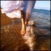 umadoshi: (walking in water)