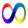 eien_herrison: An infinity loop in all the colours of the rainbow to signify Autistic Pride (Autism)