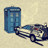 calliopes_pen: (magicmachine Delorean TARDIS crash)
