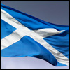 scotland: Picture of a Scottish flag flapping in the wind (Default)