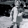 persimmonfrost: Me at age three or so, enjoying the snow (snow)