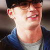 newredshoes: Steve in hipster disguise grinning dorkily (cap | awkward goober hipster AU)
