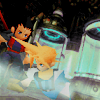 laceblade: Screencap from FF7, Zak and Cloud escaping from Mako tubes in Shinra mansion (FF7: Cloud/Zack escape)