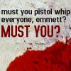 wildcard_47: (Twilight - pistol whipping)