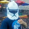 mckitterick: Yes, this is one of my actual scooter helmets. RESPECT THE EMPIRE. (Chris Clone Trooper)