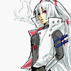 lightlag: Fujiwara no Mokou in a white leather jacket, facing the left with two swords sheathed in her belt and a lit cigarette. (touhou tag)