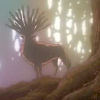 "go_dog_go: The deerlike forest spirit from ""Mononoke Hime"" (forest spirit)"