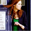 ashpags: Amy Pond standing in the doorway of the TARDIS, from The Lodger. (happy-claps)