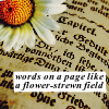 dancesontrains: (Daisy on a page)