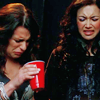 ampersandand: Rachel and Santana are drinking responsibly (there's also cough syrup in here)