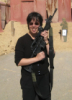 zirconium: snapshot of me at class in Israel (me with M14)