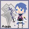 tyger: Aqua's Avatar Kingdom chibi.  Text: Aqua (Aqua - chibi)