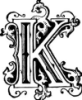 kess_kay: the letter K in a fancy schmancy typeface (pic#)