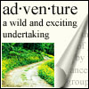 sweet_sparrow: Picture of a road with the definition for 'adventure'. (P: Adventuring!)