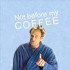 em_kellesvig: Rodney McKay in his bathrobe, scolding. Caption: Not before my coffee! (SGAMcKayCoffee)