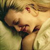 fringekink_mod: Olivia, in bed and naked under the sheets (what? Totally!), eyes closed, smiling blissfully, hair fanned out on pillow (Olivia)