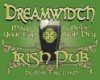 "dreamatdrew: ""Dreamwidth Irish Pub"", overprinted on green around a pint glass with Celtic knotwork on it. (Pub)"