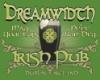 "dreamatdrew: ""Dreamwidth Irish Pub"", overprinted on green around a pint glass with Celtic knotwork on it. (Pub)"