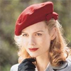 codename_verity: 1940s Blonde woman, smiling, with red beret (bonnie lass)