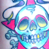 mspixieriot: (me | tattoos | skull contrast)