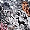 loligo: wild animals looking at moon (wildlife)