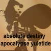 "morbane: Utena Shadow Girls Santa picture with text ""absolute destiny apocalypse yuletide"" (Utena)"