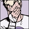 bullseye_hawkguy: Clint Barton facepalms (facepalm)