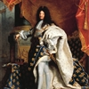 halialkers: Louis XIV, man in elaborate robes and tights, looking straight on, brunette wig (Azlain Gerigstandgros)