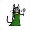 vaalea: Comic Bast, holding a sistrum. (Kemet ~ Bast)