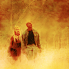 paian: Teal'c and Ishta in a softly blurred meadow (teal'c ishta by me)